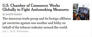 U.S. Chamber of Commerce Works Globally to Fight Antismoking Measures